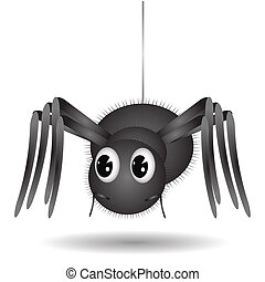 Cartoon Spider - illustration wall with Cartoon Spider on...