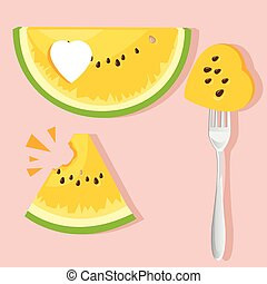 illustration watermelon