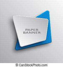 illustration., wektor, papier, infographic, origami, banner., sztuka