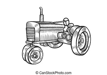illustration wheeled tractor