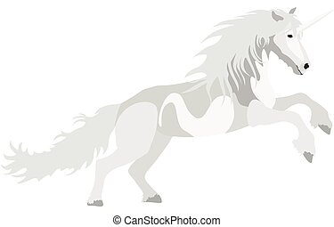 Illustration white Unicorn