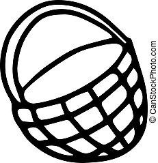 wicker basket in doodle