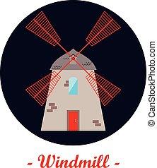 illustration, windmill.