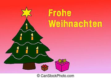 illustration wishing merry christmas in german language - Merry Christmas In German How To Say