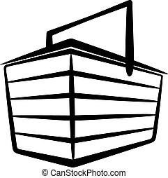 illustration with a basket