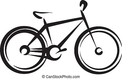 Illustration with a bike symbol - Simple vector illustration...