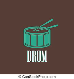 illustration with a drum
