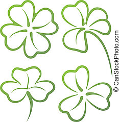 illustration with a set of clover leaves