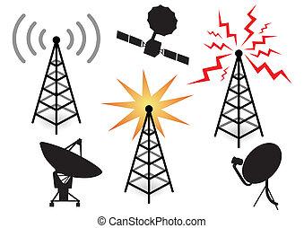 illustration with a set of radio de