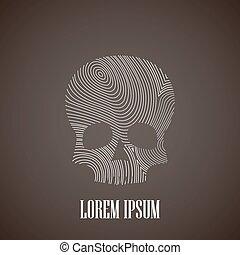 illustration with a skull