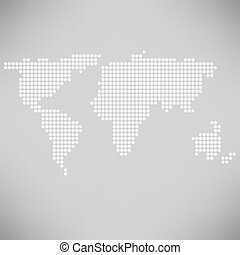 abstract dotted world map