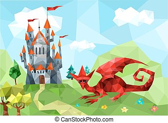castle - illustration with castle