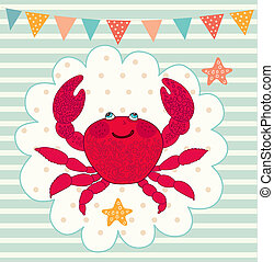 Illustration with crab