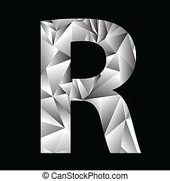 crystal letter R
