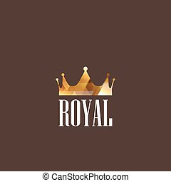 illustration with diamond crown