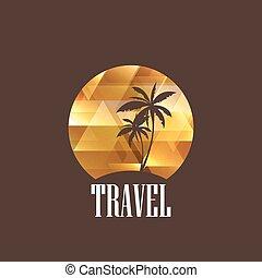 illustration with diamond tropical island