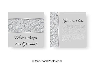 Illustration with droplets - Ecological background design...