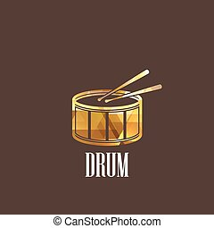 illustration with drum icon