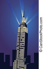 Illustration with Empire State Building