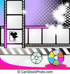 Illustration with film frames