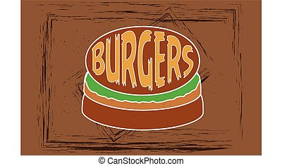 Illustration with hamburger icon