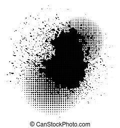 ink blob -  illustration  with ink blob on white background