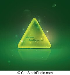illustration with shiny green triangle