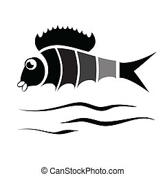 silhouette of fish
