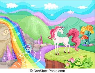 unicorn - illustration with unicorn