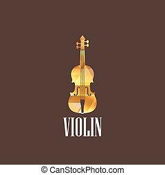 illustration with violin icon