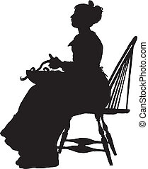 Illustration woman silhouette