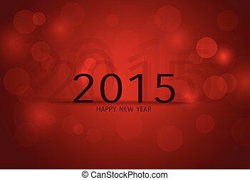 illustration., year., vector, 2015, nieuw, vrolijke