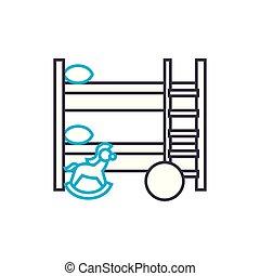 illustration., znak, concept., symbol, dzieci, linearny,...