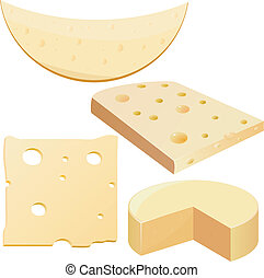 illustrationer, ost, vektor, samling