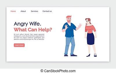 illustrations., 概念, インターフェイス, 何か, web ページ, 助け, 着陸, 漫画, 平ら, ...