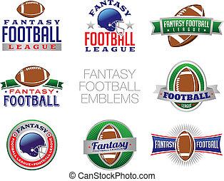 illustrations, fantasme, football, emblème
