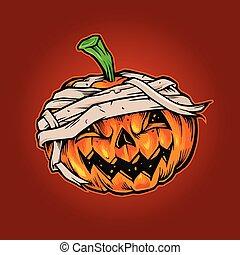 Pumpkins Halloween Mascot Horror