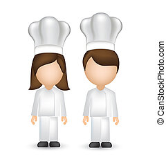 chef with white hat