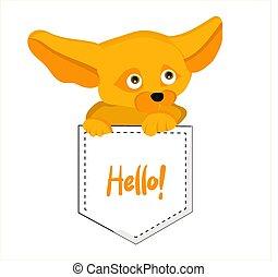 illustration.vulpes, renard, caractère, mignon, enfants, fenech., zerda., dessin animé