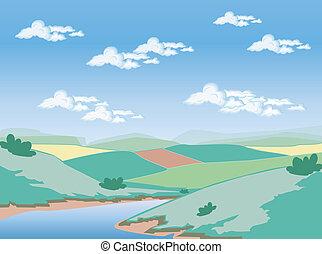 illustrato, paesaggio