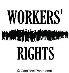 illustraton, lavorante, silhouette, diritti