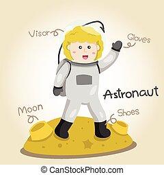 Illustrator of Astronaut alphabet