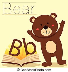 Illustrator of B for Bear vocabular