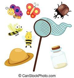 Illustrator of bug with net