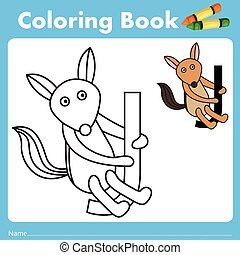 Illustrator of color book with jackal animal