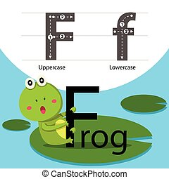 Illustrator of frog with f font