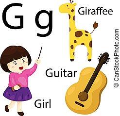 Illustrator of G alphabet