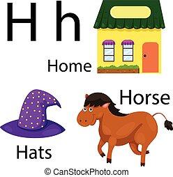 Illustrator of H alphabet