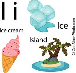 Illustrator of i alphabet