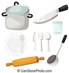 Illustrator of kitchenware with cro
